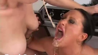 Extreme Holly And Her Friend Get Messy With Some Puke Play In Vomit Scene