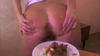 Cute Teen On Webcam Shits On A Plate And Shows Her Pretty Ass