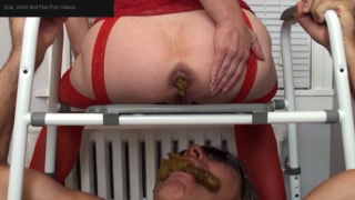 Human Toilet Gets Ready To Eat From His Horny Mistress And Eventually Gets A Mouthful On Live Scat Cam