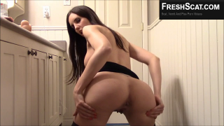 Sexy Brunette Girl Shits Out Of Her Perfect Ass On Live Webcam For Us To Enjoy
