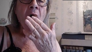 Degenerate Old Man With Long Hair Eats Shit Like A Slave On Webcam MALE SCAT