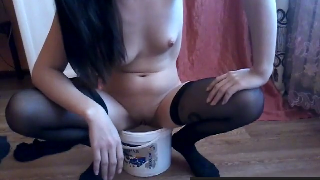 Yummy Webcam Girl Shits For Us And Pisses As Well In A Bucket Then Shows Us Her Perfect Ass