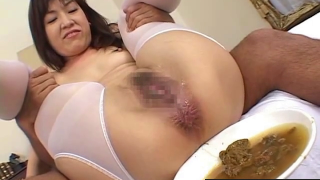 Hairy Japanese Scat Girl Has Enema From Her Stretched Asshole On Recorded Live Cam Fills Bowl Up
