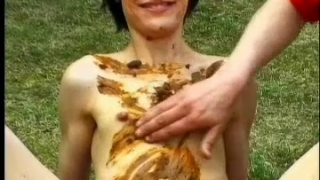 Happy Scat Girl Plays With Her Man Outdoors On Webcam Lots Of Smearing Poop