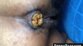 Hot Black Girl With Hairy Pussy Shits For Us On Webcam
