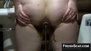 Amazing Girl Shits Liquid Poop Out Of Her Asshole On Live Webcam