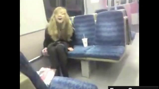 Hot Teen Pisses On The Subway Train Seat Wearing Her Clothes On Webcam