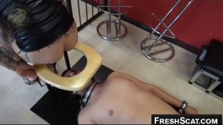 Scat Human Toilet Gets Fed Nicely From Woman